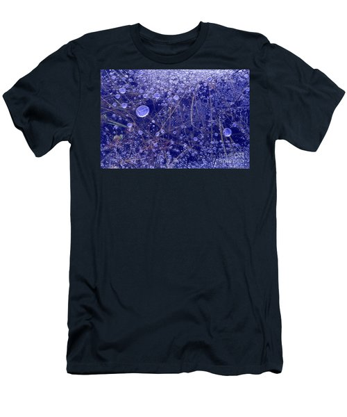 Frozen Bubbles In The Merced River Yosemite Natioinal Park Men's T-Shirt (Athletic Fit)