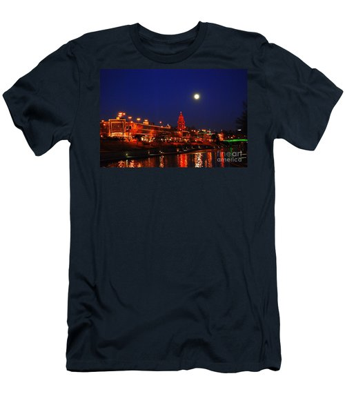 Full Moon Over Plaza Lights In Kansas City Men's T-Shirt (Athletic Fit)