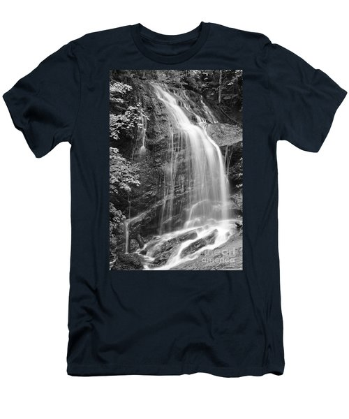 Fuller Falls Waterfall Black And White Men's T-Shirt (Athletic Fit)