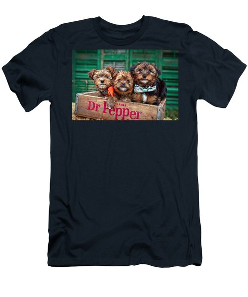 Furry Trio Men's T-Shirt (Slim Fit) by Sennie Pierson