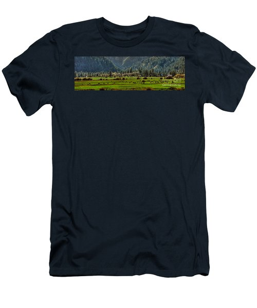 Garden Valley Elk Herd Men's T-Shirt (Slim Fit) by Sam Rosen