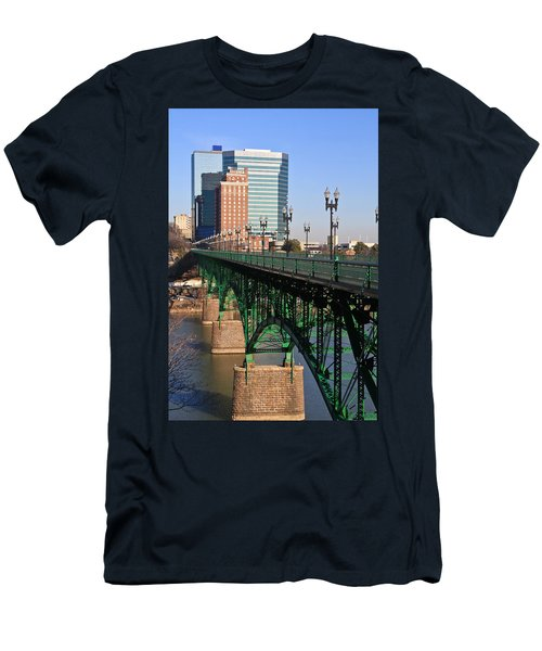 Gay Street Bridge Knoxville Men's T-Shirt (Athletic Fit)