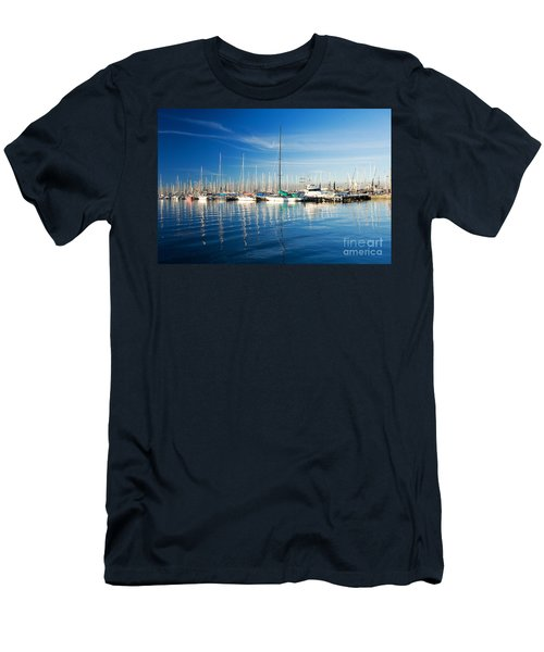 Men's T-Shirt (Slim Fit) featuring the photograph Gem Pier Of Williamstown by Yew Kwang
