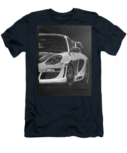 Men's T-Shirt (Athletic Fit) featuring the painting Gemballa Porsche Left by Richard Le Page