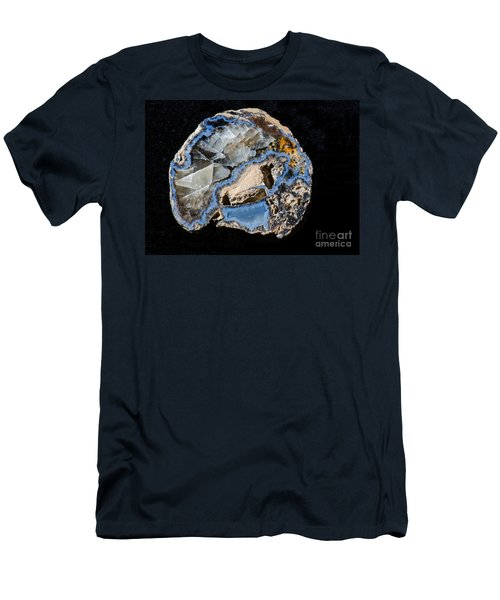 Geode With Chalcedony Men's T-Shirt (Athletic Fit)