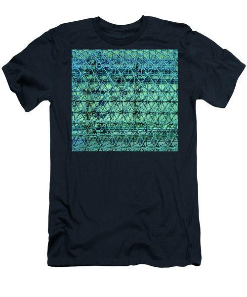 Geometrical Steel Men's T-Shirt (Athletic Fit)