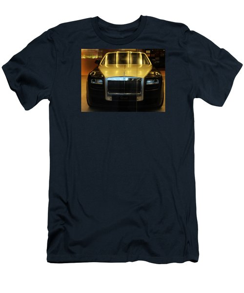 Men's T-Shirt (Slim Fit) featuring the photograph Rolls Royce Ghost by Salman Ravish