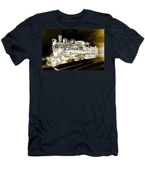 Men's T-Shirt (Athletic Fit) featuring the photograph Ghost Train by Gunter Nezhoda