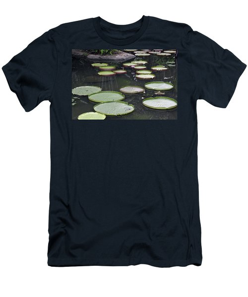 Men's T-Shirt (Slim Fit) featuring the photograph Giant Lily Pads by Shoal Hollingsworth