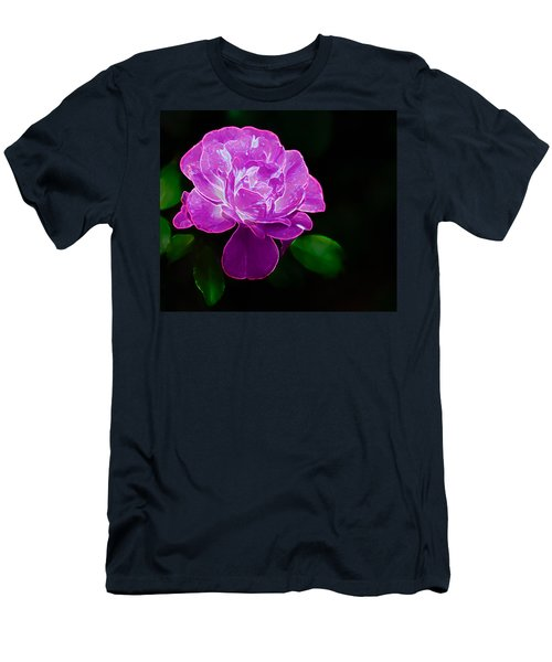 Glowing Rose II Men's T-Shirt (Athletic Fit)