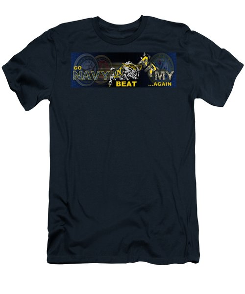 Go Navy Beat Army Men's T-Shirt (Athletic Fit)