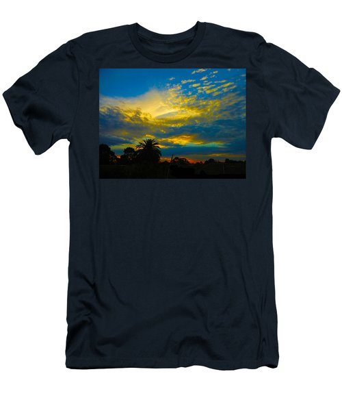 Gold And Blue Sunset Men's T-Shirt (Slim Fit) by Mark Blauhoefer