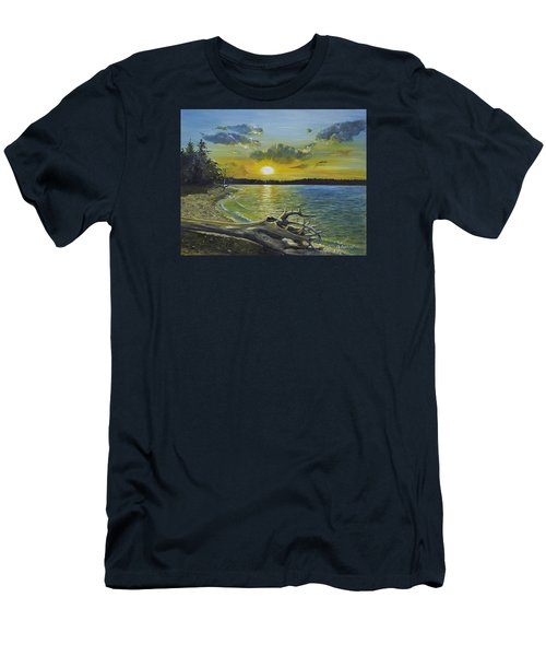 Golden Afternoon At Ketron Island Men's T-Shirt (Athletic Fit)
