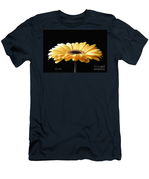 Golden Gerbera Daisy No 2 Men's T-Shirt (Athletic Fit)