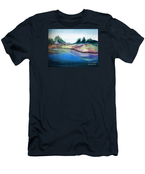 Men's T-Shirt (Slim Fit) featuring the painting Gowrie Creek Spring by Therese Alcorn