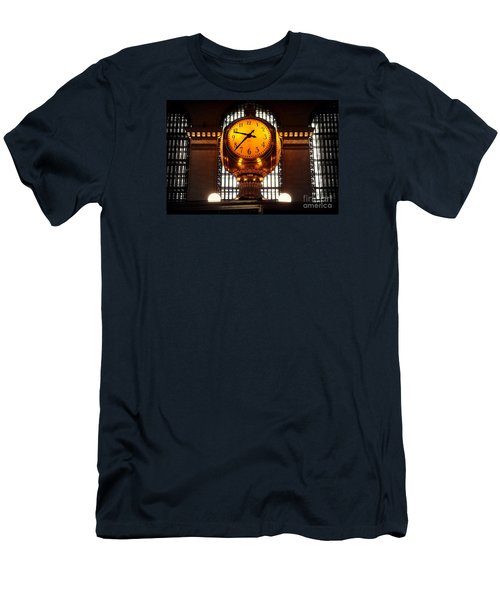 Grand Old Clock At Grand Central Station - Front Men's T-Shirt (Slim Fit) by Miriam Danar