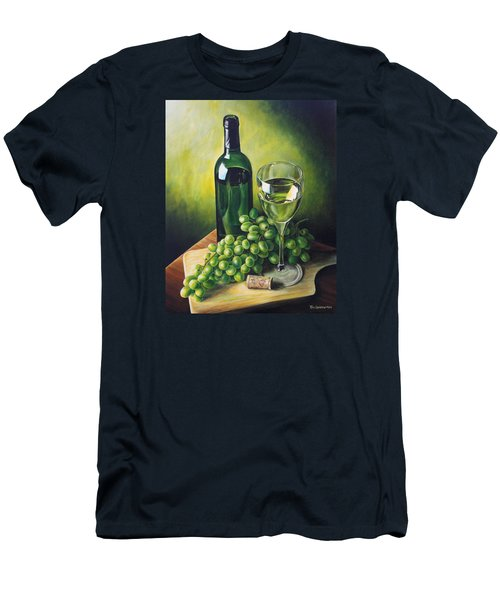Grapes And Wine Men's T-Shirt (Slim Fit) by Kim Lockman