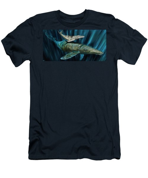 Graywhale Momma And Calf Men's T-Shirt (Slim Fit) by Steve Ozment