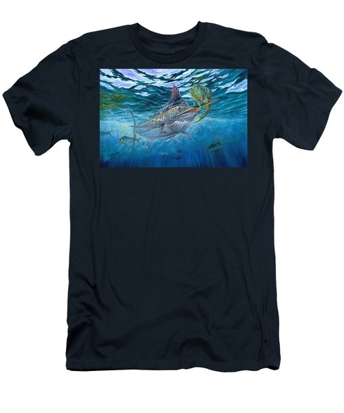 Great Blue And Mahi Mahi Underwater Men's T-Shirt (Athletic Fit)