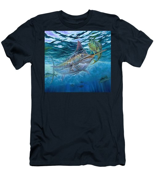 Great Blue And Mahi Mahi Underwater Men's T-Shirt (Athletic Fit)