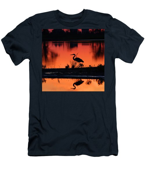 Great Blue Heron At Sunrise Men's T-Shirt (Athletic Fit)