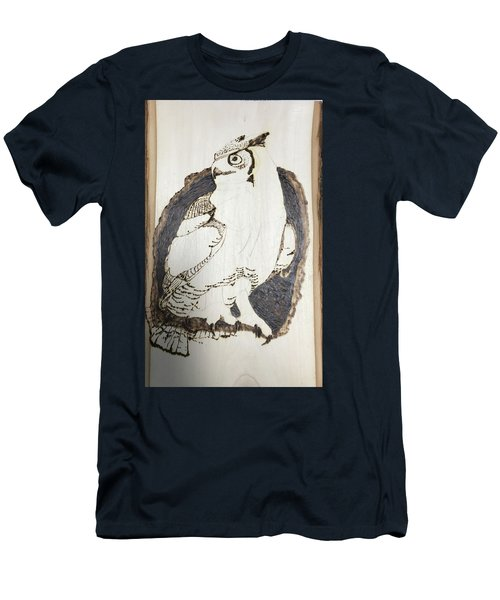 Great Horned Owl Men's T-Shirt (Slim Fit) by Terry Frederick