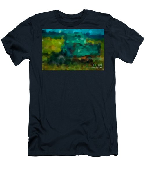 Green Truck In Abstract Men's T-Shirt (Athletic Fit)