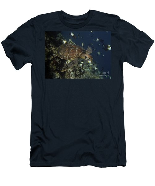 Men's T-Shirt (Slim Fit) featuring the photograph Hawksbill Turtle by Sergey Lukashin
