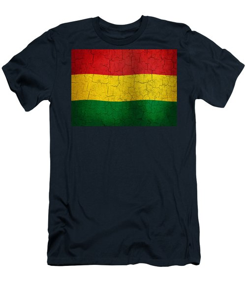 Grunge Bolivia Flag Men's T-Shirt (Athletic Fit)