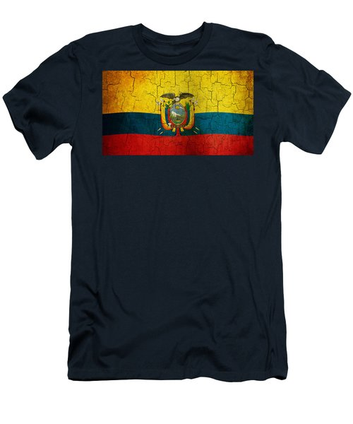 Grunge Ecuador Flag Men's T-Shirt (Athletic Fit)