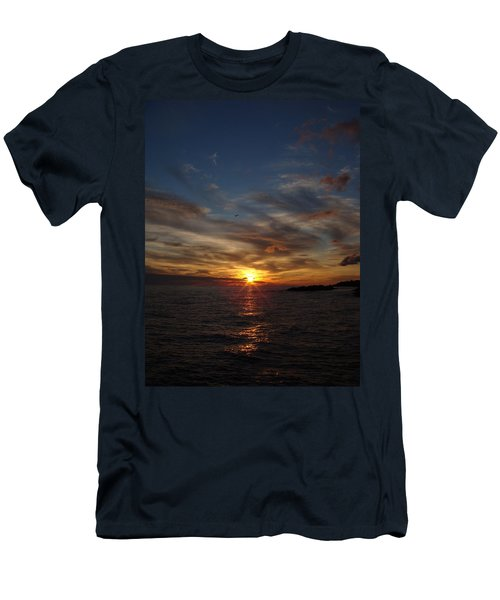 Men's T-Shirt (Slim Fit) featuring the photograph Gull Rise by Bonfire Photography