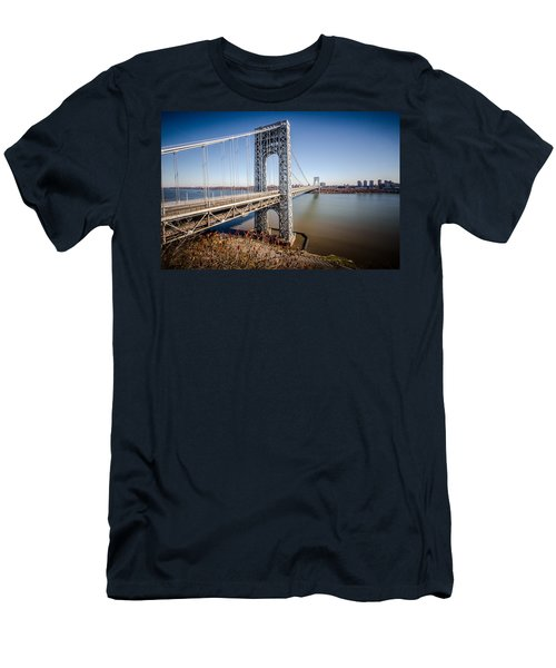 Men's T-Shirt (Athletic Fit) featuring the photograph GWB by Johnny Lam