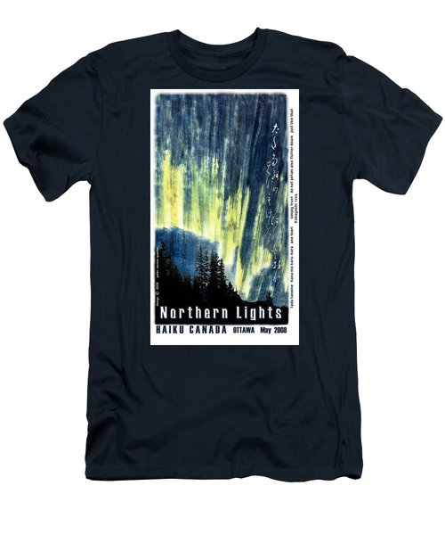 Men's T-Shirt (Slim Fit) featuring the photograph Haiga Poster Haiku Canada Conference  by Peter v Quenter