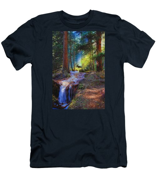 Hall Valley Moose Men's T-Shirt (Slim Fit) by J Griff Griffin