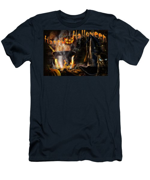 Halloween' Spirit Greeting Card Men's T-Shirt (Athletic Fit)