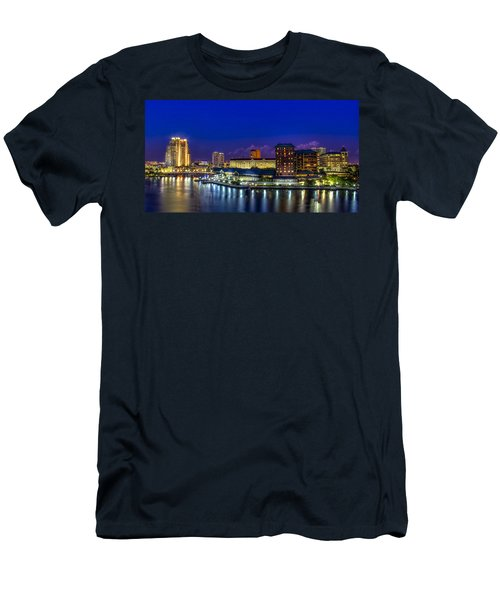 Harbor Island Nightlights Men's T-Shirt (Athletic Fit)