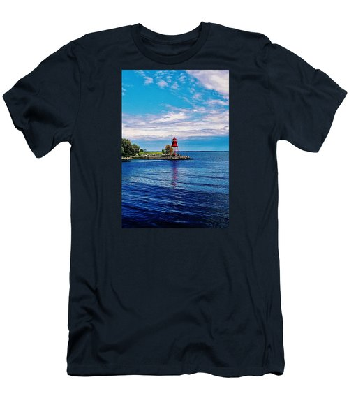 Men's T-Shirt (Slim Fit) featuring the photograph Harbor Light by Daniel Thompson