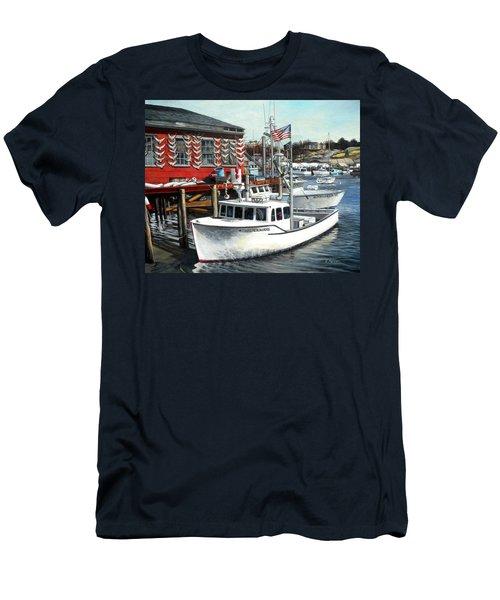 Hard Merchandise Rocky Neck Men's T-Shirt (Slim Fit) by Eileen Patten Oliver