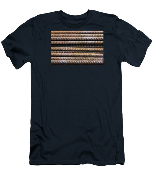 Hard Metal Rebar Pattern Men's T-Shirt (Athletic Fit)