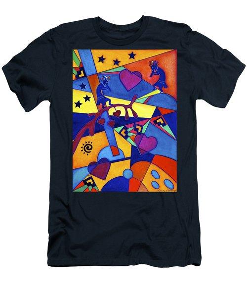 Harvesting The Love Kokopelli Art  Men's T-Shirt (Athletic Fit)