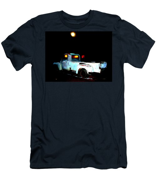 Men's T-Shirt (Slim Fit) featuring the digital art Haunted Truck by Cathy Anderson