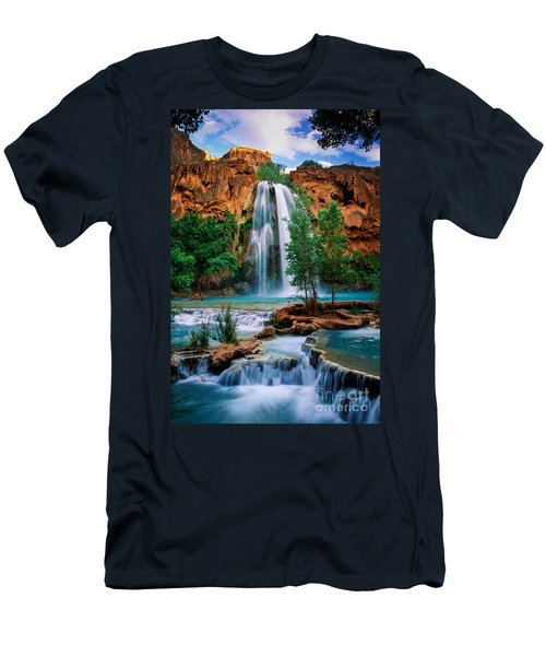 Havasu Cascades Men's T-Shirt (Slim Fit) by Inge Johnsson