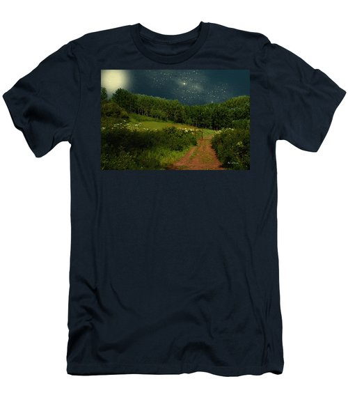 Hazy Moon Meadow Men's T-Shirt (Athletic Fit)
