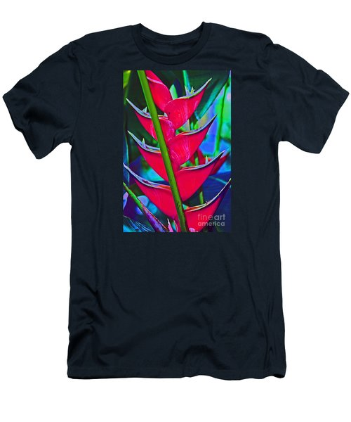 Heliconia Abstract Men's T-Shirt (Athletic Fit)