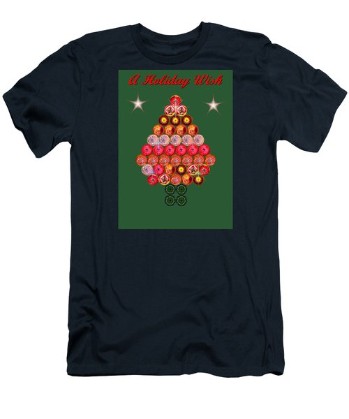 Holiday Tree Of Orbs 2 Men's T-Shirt (Slim Fit) by Nick Kloepping