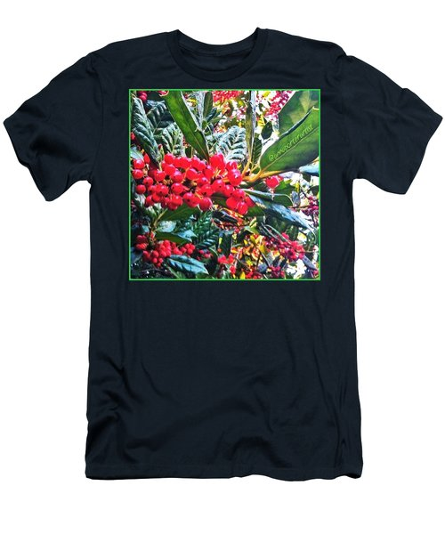 Holly Berries In The Sun Men's T-Shirt (Athletic Fit)