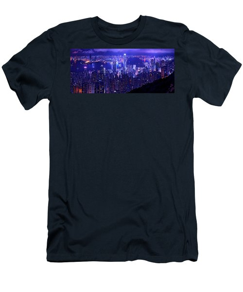 Hong Kong In Purple Men's T-Shirt (Athletic Fit)