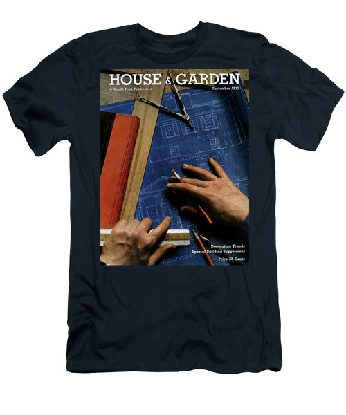 House And Garden Cover Of A Person Men's T-Shirt (Athletic Fit)