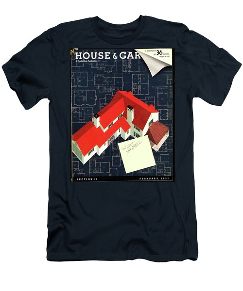 House And Garden Houses With Plans Cover Men's T-Shirt (Athletic Fit)