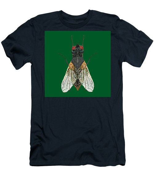 House Fly In Green Men's T-Shirt (Athletic Fit)